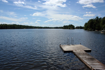 Dock on Trout Lake in Upstate New York