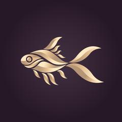 Goldfish logo vector icon illustrator