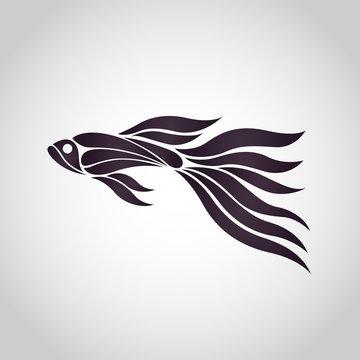 GUPPY FISH logo vector icon design illustrations