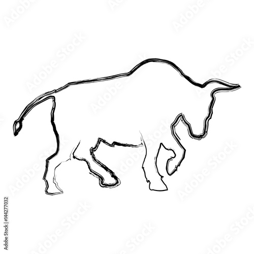 Stock Market Bull Symbol Icon Vector Illustration Graphic Design