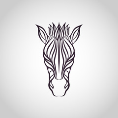 Zebra logo vector icon design illustrations