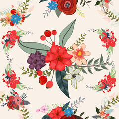 Floral background pattern, flower, seamless