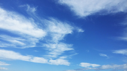 Blue sky and white clouds in a nice day