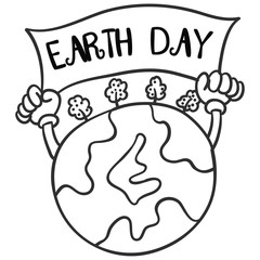 Collection of earth day hand draw