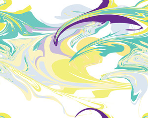 Mardi Gras seamless line marble pattern, Vector illustration