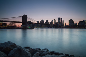 Manhattan sunset view from dumbo location