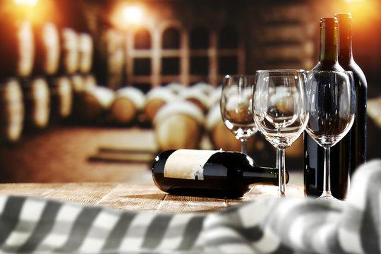 desk space of wine