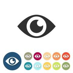 Button-Set bunt - Auge