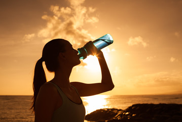 Drinking water and body care.