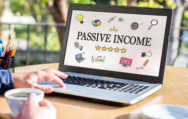 Passive Income Concept On Laptop Monitor