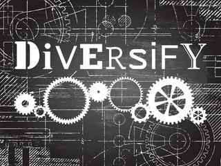Diversify Blackboard Tech Drawing