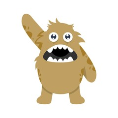 Monster character illustration vector
