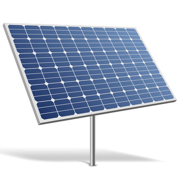 Solar panel isolated on white background vector illustration.