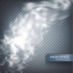 Smoke effect on a transparent vector background