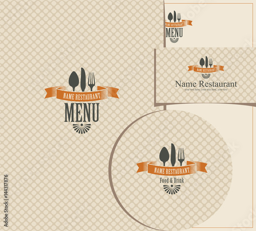 Set of design elements for a cafe or restaurant from the menu set of design elements for a cafe or restaurant from the menu business cards and reheart Choice Image