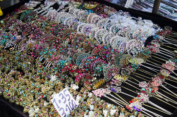 Small local shop sale souvenir and native product for people and travellers on street at Doi Pui Tribal Village