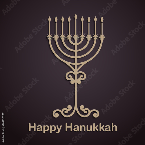 Vector hanukkah background with menorah happy hanukkah background vector hanukkah background with menorah happy hanukkah background elegant greeting card m4hsunfo