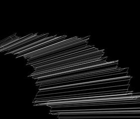 抽象的な白い線