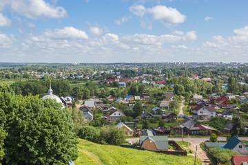 Вид на Переславль-Залесский с колокольни в Горицком Успенском монастыре