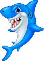 Cartoon funny shark