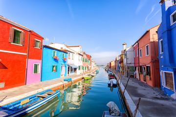 architecture of Burano island, Italy.
