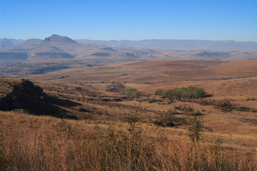 The mountainous area near Clarens, Free state, South Africa.