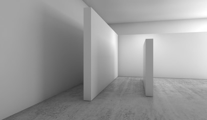 Abstract empty interior background, 3 d render