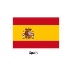 Vector Spain flag, Spain flag illustration, Spain flag picture