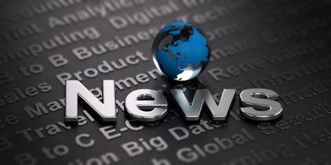 Wall Mural - Worldwide News Background. Media Concept