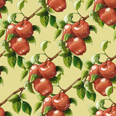 Vintage apples pattern