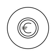 Money sign. Coin. Euro.