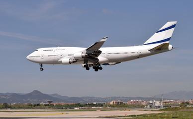 aviones comerciales de pasajeros  Fototapete