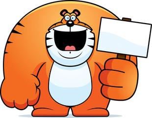 Cartoon Tiger Sign