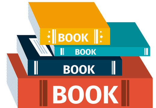 E-Learning Infographic with Books and Keyboard