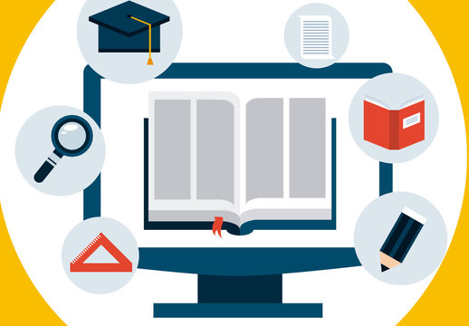 Four Section E-Learning infographic