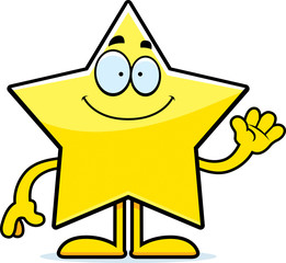 Cartoon Star Waving