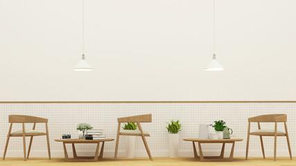 Restaurnat  or coffee shop - 3D Rendering