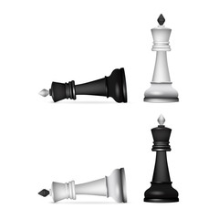 Victory chess figures chessmen isolated on white