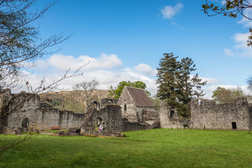 The ruins of the 13th century Inchmahome Priory near Aberfoyle, Scotland.