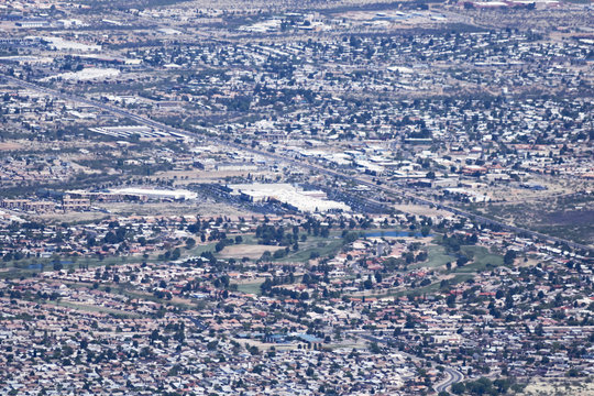 An Aerial View of Sierra Vista, Arizona, from Carr Canyon