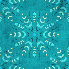 Seamless floral geometric pattern. Vintage background. Fabric, Scrapbooking
