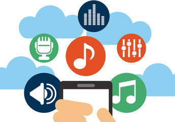 Cloud Audio Streaming Infographic 1