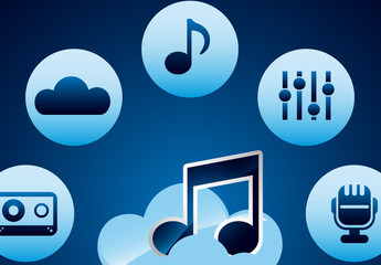Cloud Audio Streaming Infographic 2