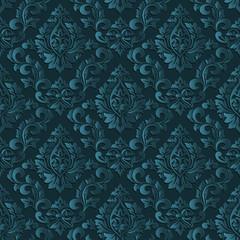 Wektor adamaszkowy bezszwowy deseniowy tło. Eleganckie i luksusowe tekstury tapety, tła i wypełnienia strony. Elementy 3D z cieniami i pasemkami. Wycinanka.