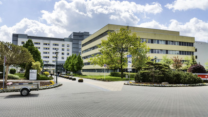 Klinikum in Markendorf, Frankfurt an der Oder, Eingangsbereich