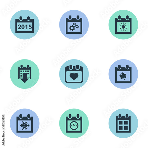 vector illustration set of simple plan icons elements planner