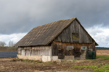 An old abandoned barn