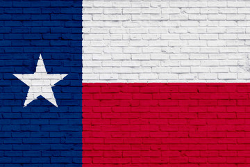 Flag of Texas with wall texture