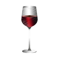 glass of wine icon image vector illustration design