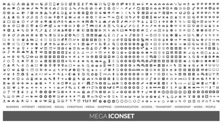 Iconset  Wall mural
